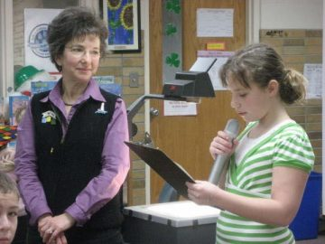 The Poetry Lady with student