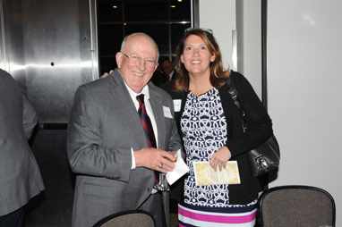 Gerry Young and Becky Buchand at banquet