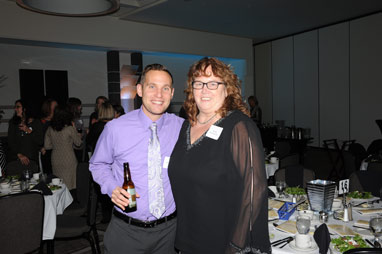 Justin Turner and Wanda Derochski at the OEF Awards Banquet
